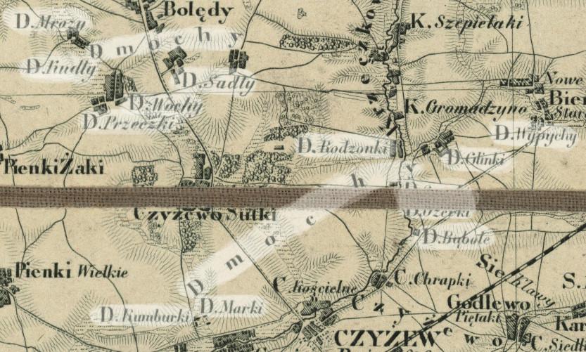 Dmochy – wg Słownika geograficznego Królestwa Polskiego