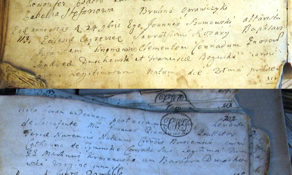 Akt urodzenia Klemensa Konrada Dmochowskiego
