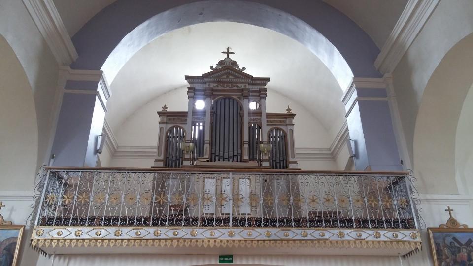 Rycina 13. Organy w parafialnym kościele rzymsko-katolickim Przemienienia Chrystusa w Metelach ufundowane przez Teofila Dmochowskiego (fot. Marek Z. Barański).