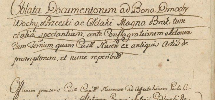 Najstarsze dokumenty o rodzinie Dmochowskich